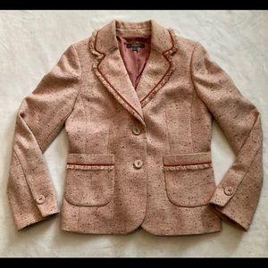 Vintage Ann Taylor Studio Pink Tweed Blazer